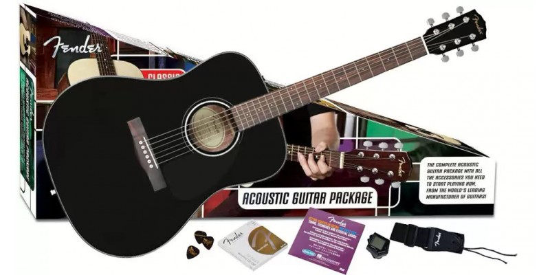 Fender CD60 Pack Zwart-0