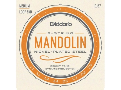 D'addario EJ67 snarenset voor mandoline - Music Webshop