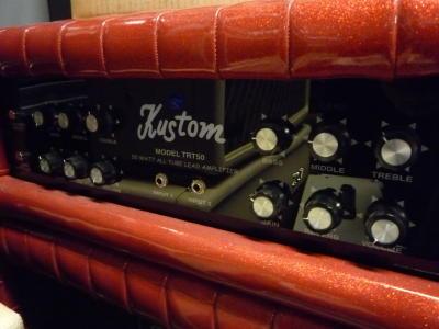 """Kustom Top 50 Watt buizen + kast 2 x 12"""", red-1327"""