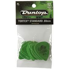 Dunlop plectra Tortex (div. maten) per zakje van 12-1155