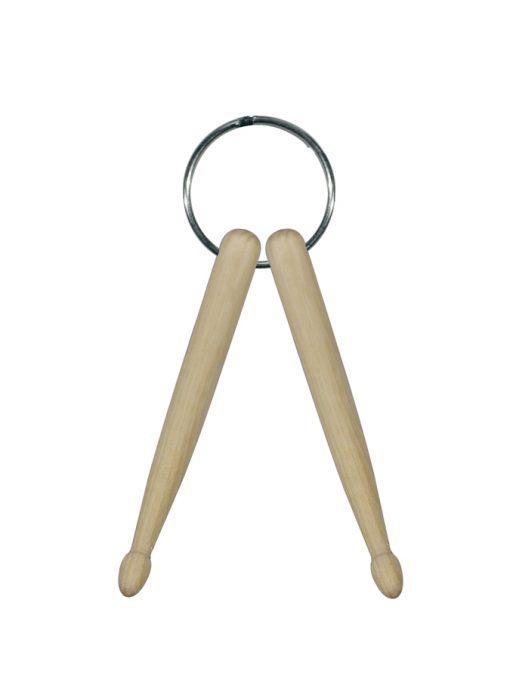 Sleutelhanger met mini houten drumstokken-0