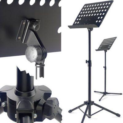 Stagg MUS-A5 Orkestlessenaar, met geperforeerd metalen bovenblad-0