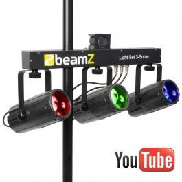 3-Some Lichtset 3x 57 RGBW LED's-0