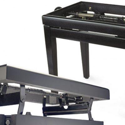 Stagg PB 40 BK P Pianobank, zwart hoogglans-0