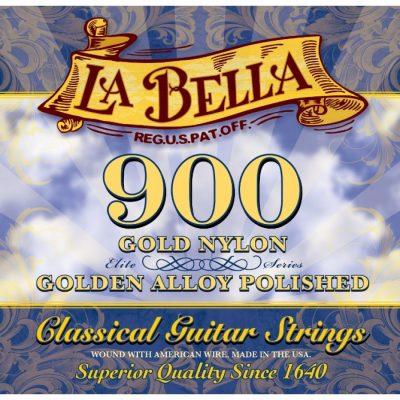 La Bella 900-B, Black nylon strings (3 sets)-0