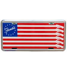 Fender® Flag License Plate 9190560133-0