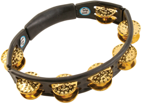 LP Cyclops® Dimpled Jingle Tambourine, Brass/Black/Hand Held LP-174-0