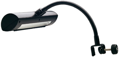 K&M 12285 bladmuziekverlichting zwanenhals op batterijen/netvoeding-0