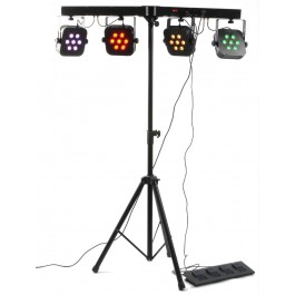 BeamZ PARBAR 4-Weg Kit 7x 10W Quad LED's DMX-0