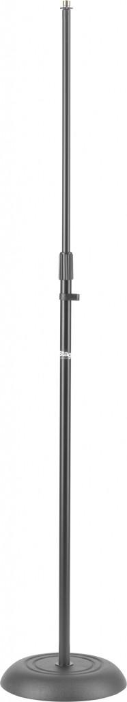 Stagg MIS-1020BK Rechte microfoonstatief met zwarte massieve voet-0