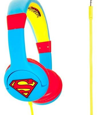 Superman Man of Steel Premium Headphones (Blue)-0