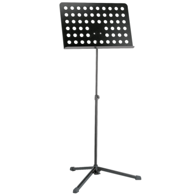 K&M 12179 Orchestra music stand, Black, perforated desk-0