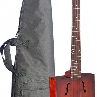 Akoestische cigar-box resonatorgitaar met vier snaren; massief sparren top, Cask-Puncheon BINNENKORT LEVERBAAR-0