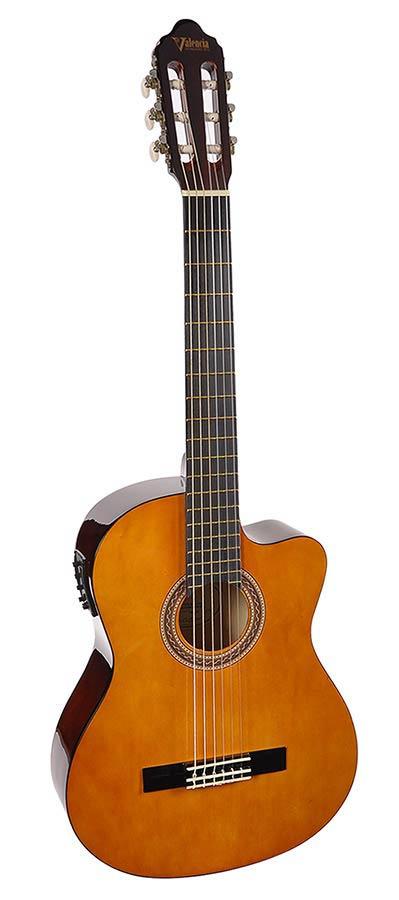 Valencia VC154CE klassieke gitaar met electronica/tuner-0