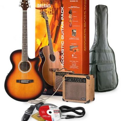 Stagg SW206 Electro-Acoustic Cutaway Concert Guitar & Amplifier Pack-0
