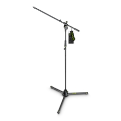 Gravity MS 4321 B Microphone Stand with Folding Tripod Base and 2-Point Adjustment Boom-0