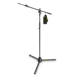 Gravity MS 4322 B Microphone Stand with Folding Tripod Base and 2-Point Adjustment Telescoping Boom-0