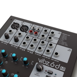 LD Systems VIBZ 6 D, 6 channel Mixing Console with DFX-5808