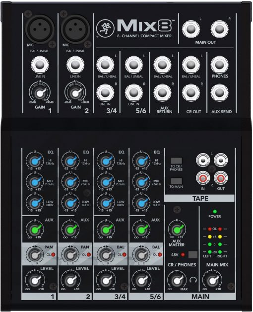 Mackie Mix8 allround mixer-5939